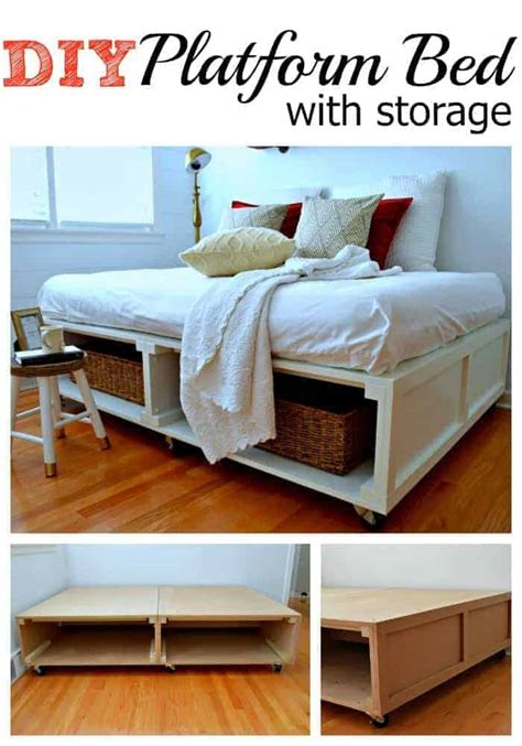 Platform Bed Wth Storage Diy