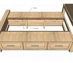 Best Platform bed with drawers woodworking plans