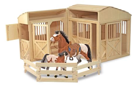 Play Wooden Horse Stables