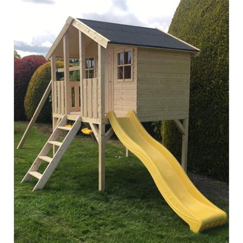 Playhouse On Stilts With Slide Plans