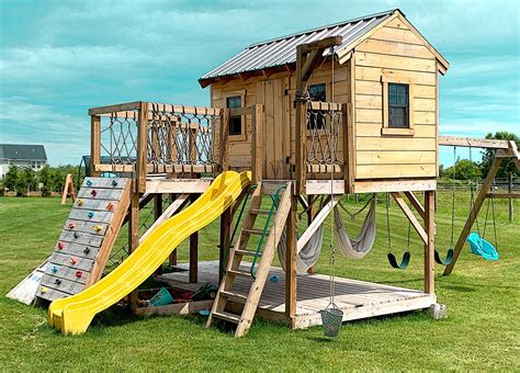 Playhouse With Slide Plans