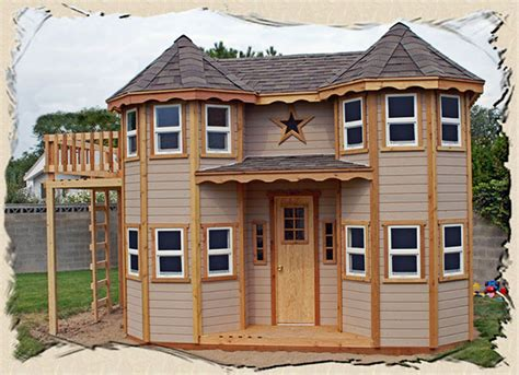 Playhouse-With-Porch-And-Loft-Plans