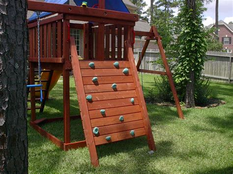 Playset Plans With Climbing Wall