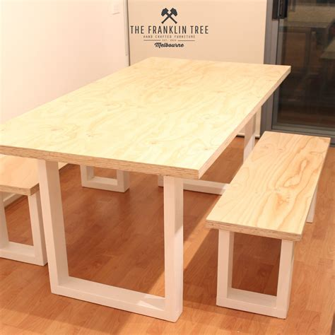 Ply Wood Dining Table Diy Pipe
