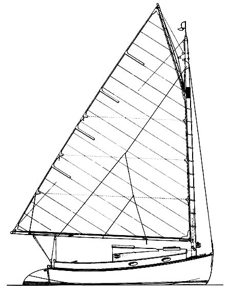 Plywood Catboat Sailboat Plans