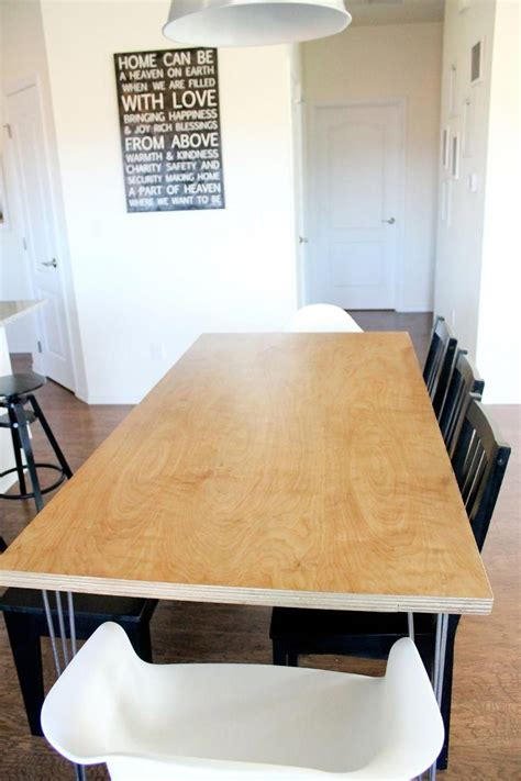 Plywood Dining Table Diy