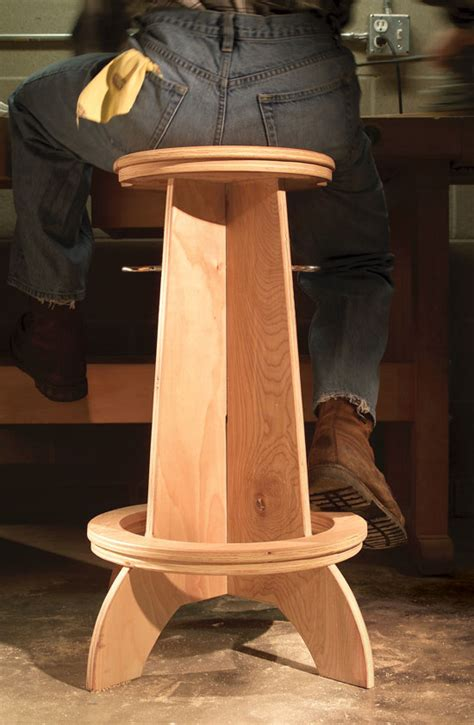 Plywood Shop Stool Plans