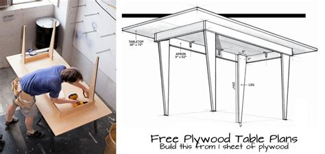 Plywood Table Plans Free