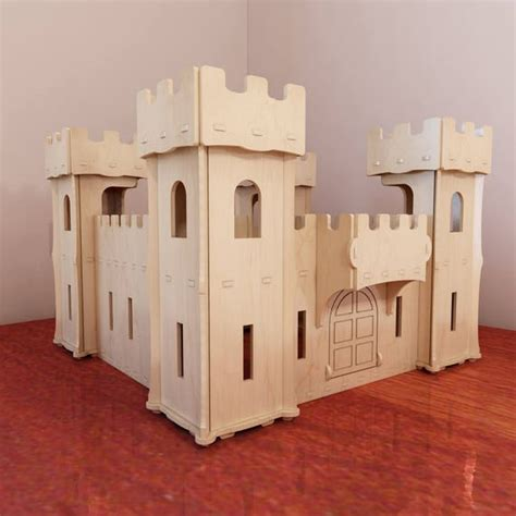 Plywood Toy Castle Plans Poster