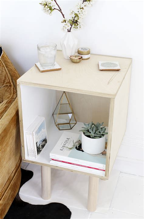 Plywood-Side-Table-Diy