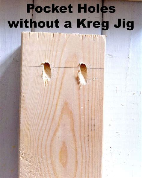 Pocket Holes Without A Kreg Jig