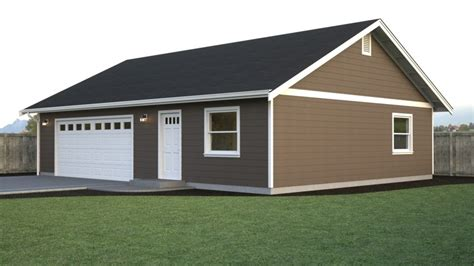 Pole Barn House Plans 40x40 With Garage