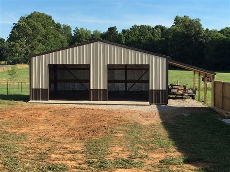 Pole-Barn-Garage-Plans-With-Lean-To-On-Both-Sides