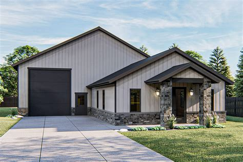 Pole-Barn-House-Plans-With-Attached-Garage