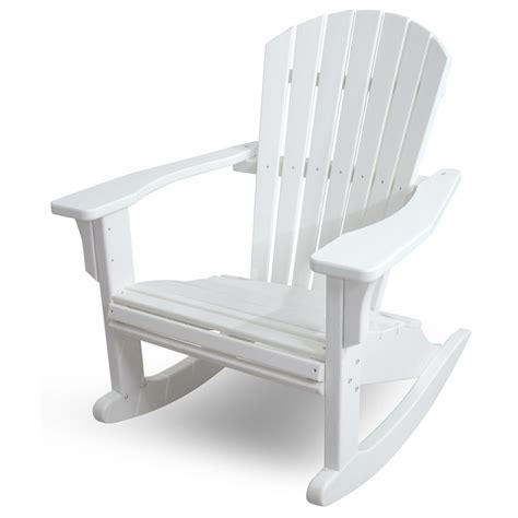 Polywood-Seashell-Adirondack-Rocking-Chair