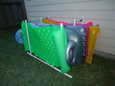 Pool-Float-Storage-Rack-Diy