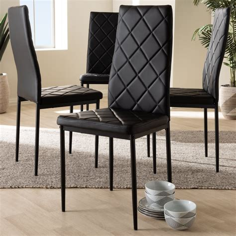 Poplin Upholstered Dining Chair (Set Of 4)