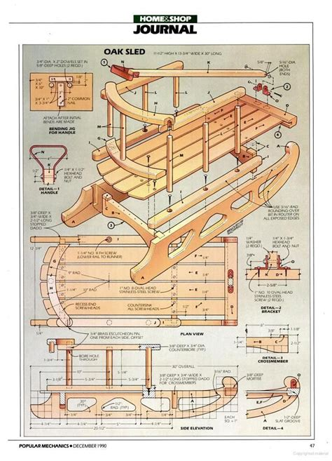 Popular-Mechanics-Woodworking-Projects-Sled