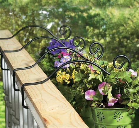 Porch Railing Plant Hangers Outdoor