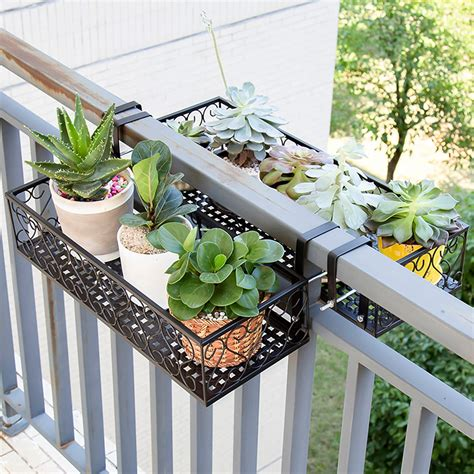 Porch Railing Plant Holders