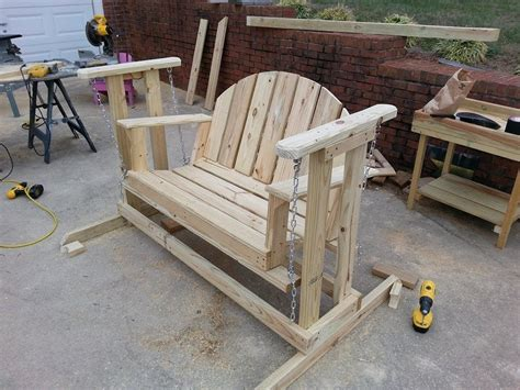Porch Swing Glider Build