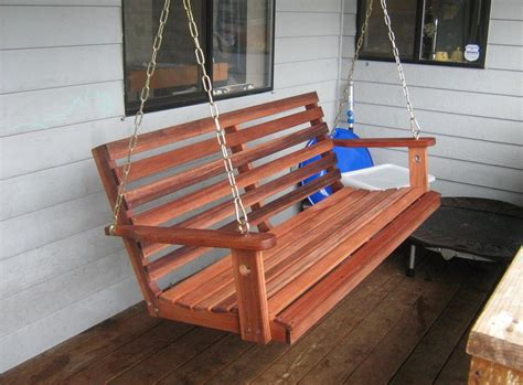 Porch Swing Plans Made With 1x6