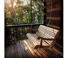 Best Porch swing log cabin