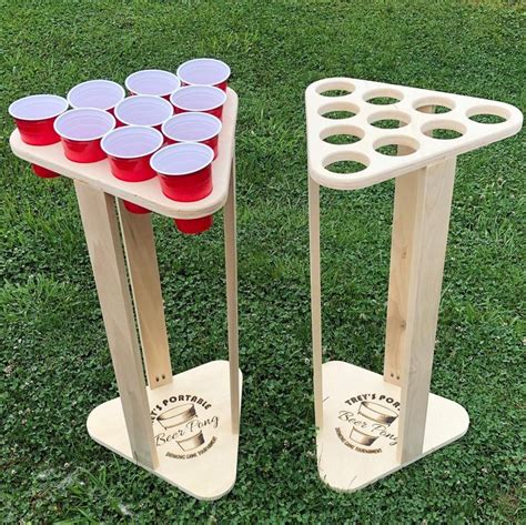 Portable Beer Pong Table Diy With Shelf