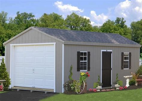 Portable One Car Garage Plans 12 X 24