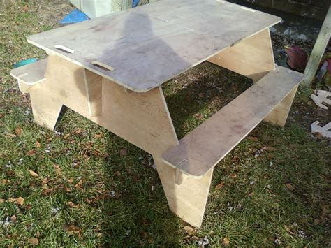 Portable Plywood Picnic Table Plans