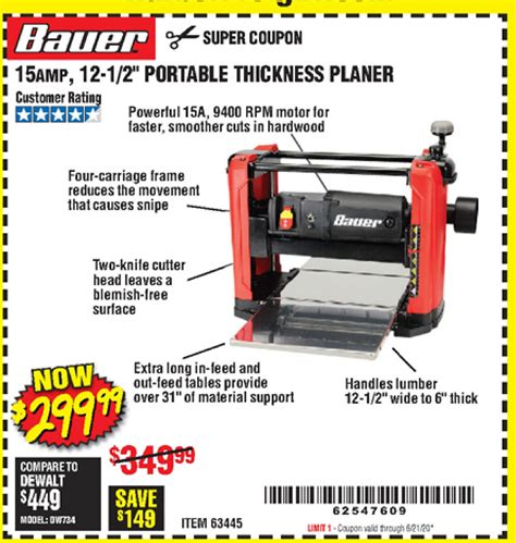 Portable Table Planer From Harbor Fr