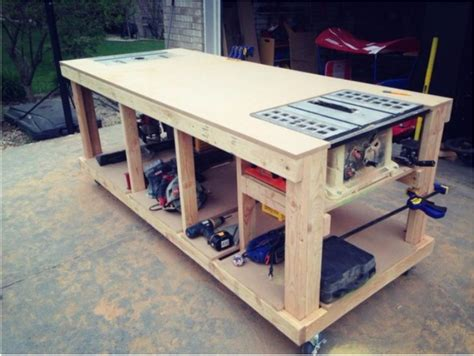 Portable Work Table With Wheels Plans