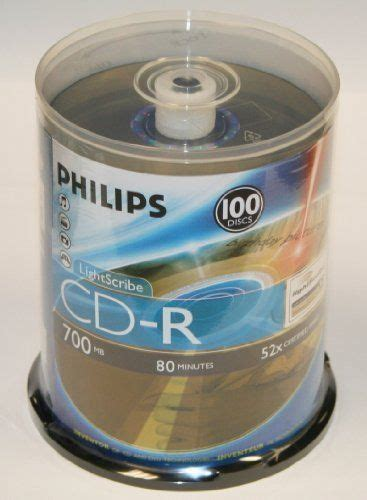 Portable, Philips LightScribe CD-R 52X 80Min 100PK Spindle Consumer Electronic Gadget Shop