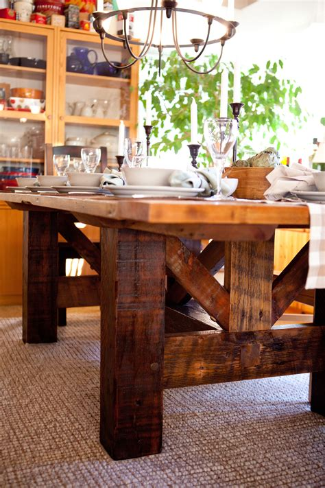 Post And Beam Dinner Table Plans