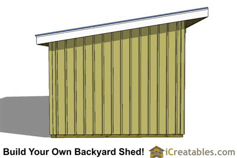 Post And Beam Run In Shed Plans