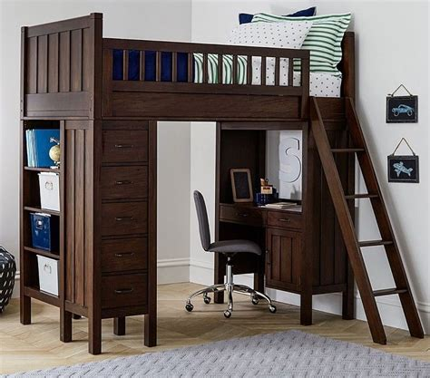 Pottery Barn Loft Bed With Desk Picture