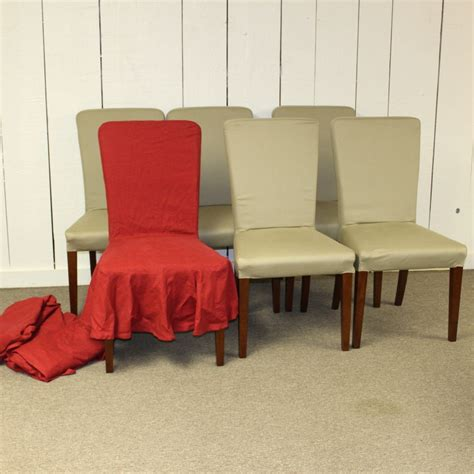 Pottery Barn Loose Fit Dining Chair Cover
