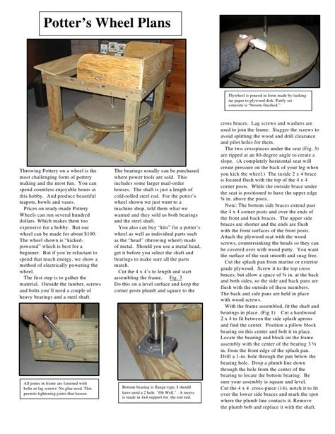 Pottery-Kick-Wheel-Plans