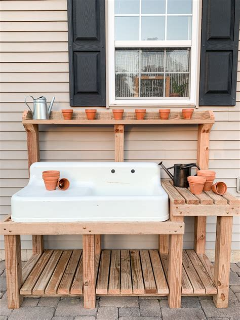 Potting Table With Sink Plans
