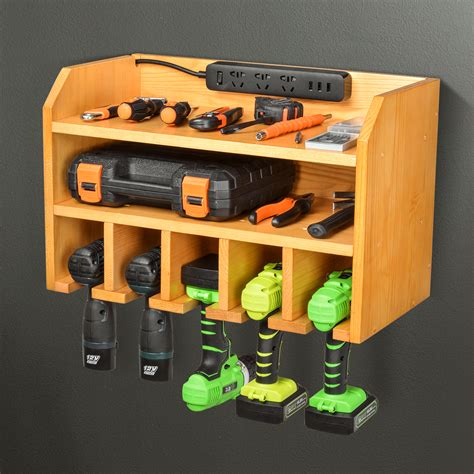 Power Drill Storage & Charging Station Plans