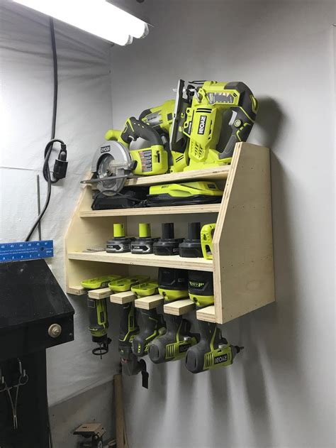 Power Tool Storage Rack Diy
