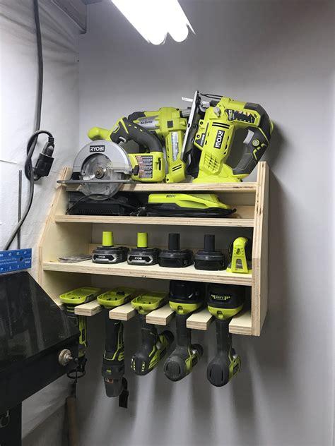 Power-Tool-Storage-Rack-Diy