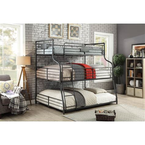 Prather Twin Over Full Over Queen Triple Bunk Bed