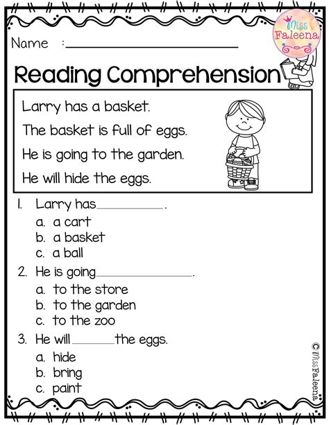 HD wallpapers comprehension kindergarten worksheets Page 3