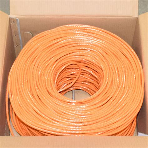 Premiertek 1000Ft Cat6 23AWG UTP Solid 4-pairs Network Ethernet LAN Cable Bulk Black (CAT6-CCA-1KFT-BK)