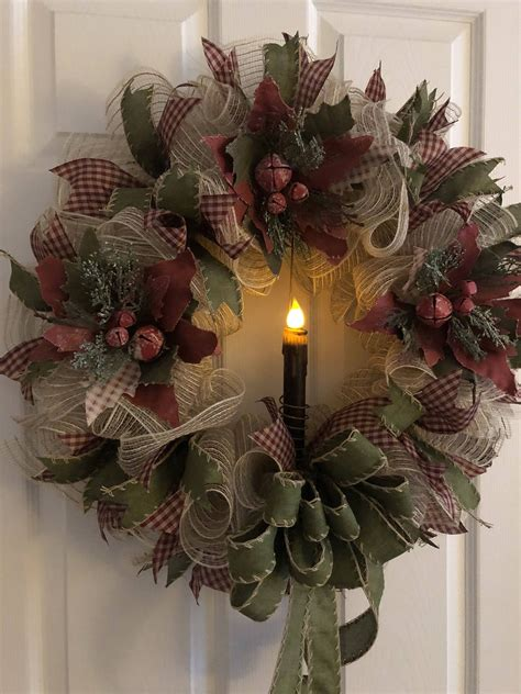 Primitive Diy Christmas Wreaths