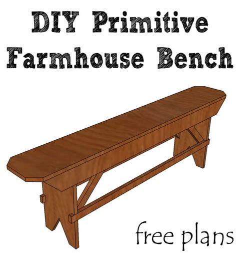 Primitive-Farmhouse-Bench-Plans