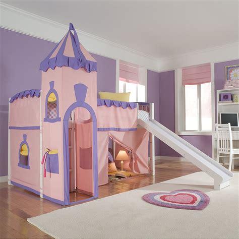 Princess-Castle-Loft-Bed-With-Slide-Plans