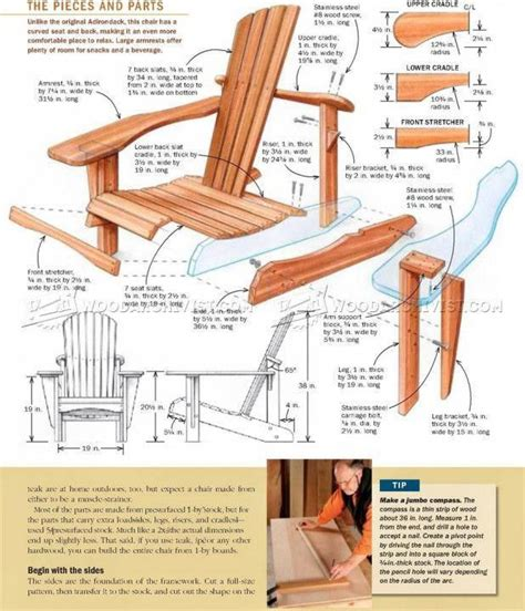 Printable Adirondack Chair Patterns