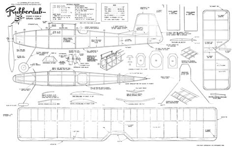 Printable Balsa Wood Airplane Plans